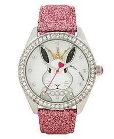 Bunny Rabbit Motif Dial & Pink Strap Watch