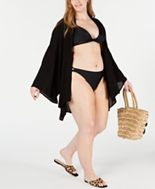 Raisins Curve Trendy Plus Size Juniors' Chita Kimono Cover-Up