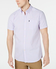 Barbour Men's Tailored-Fit Check Seersucker Shirt
