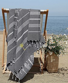 Linum Home Lucky Breezy Palm Tree Pestemal Beach Towel