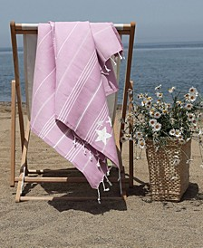 Lucky Glittery Starfish Pestemal Beach Towel