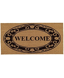 Plantation Welcome 3' x 6' Coir/Vinyl Doormat