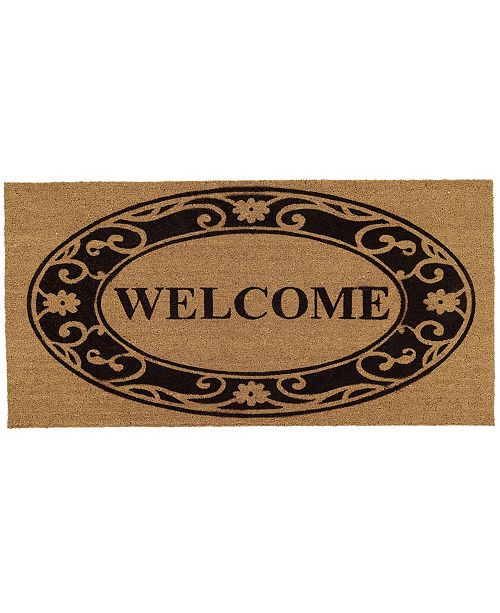 Home & More Plantation Welcome 3' x 6' Coir/Vinyl Doormat
