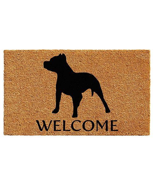 """Home & More Pit Bull 17"""" x 29"""" Coir/Vinyl Doormat"""
