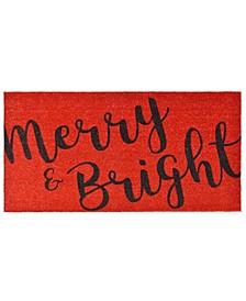 """Merry and Bright 30"""" x 48"""" Coir/Vinyl Doormat"""