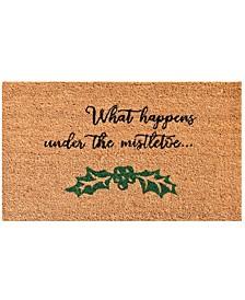 """Mistletoe 17"""" x 29"""" Coir/Vinyl Doormat"""