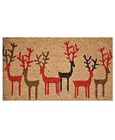 """Christmas Deer 17"""" x 29"""" Coir/Vinyl Doormat"""