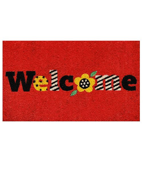 "Home & More Piccadilly Welcome 17"" x 29"" Coir/Vinyl Doormat"