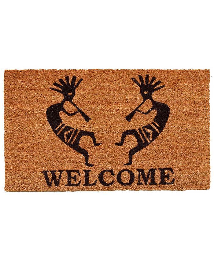 "Home & More - Trinidad Welcome 17"" x 29"" Coir/Vinyl Doormat"