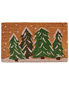 "Winter Wonderland 17"" x 29"" Coir/Vinyl Doormat"