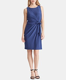 American Living Tie-Front Jersey Dress
