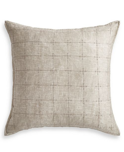 Lucky Brand  CLOSEOUT! Hayden Gold Cotton European Sham, Created for Macy's