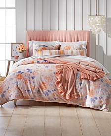 Whim by Martha Stewart Collection Exposed Floral 3-Pc. Full/Queen Comforter Set, Created for Macy's