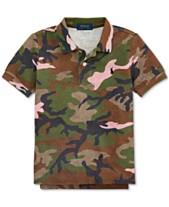 6b3737c66 Polo Ralph Lauren Toddler Boys Camo Cotton Mesh Polo Shirt