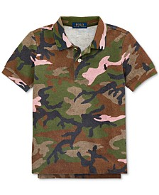 Polo Ralph Lauren Toddler Boys Camo Cotton Mesh Polo Shirt
