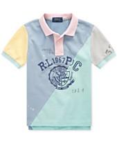 7cc397e5c Polo Ralph Lauren Toddler Boys Patchwork Cotton Mesh Polo Shirt