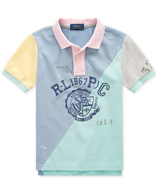 09a5fbb36 ... Polo Ralph Lauren Toddler Boys Patchwork Cotton Mesh Polo Shirt ...