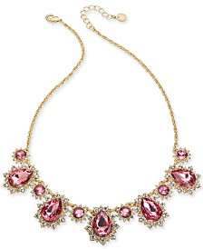 "Charter Club Crystal & Stone Statement Necklace, 17"" + 2"" extender, Created for Macy's"