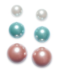 Charter Club 3-Pc. Set Colored Imitation Pearl Stud Earrings, Created for Macy's