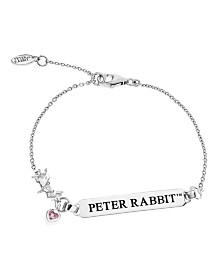 Beatrix Potter Sterling Silver Peter Rabbit ID Charm Bracelet