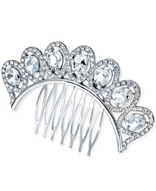I.N.C. Silver-Tone Crystal Hair Comb, Created for Macy's