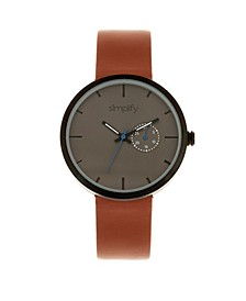 Quartz The 3900 Genuine Brown Leather Watch 40mm