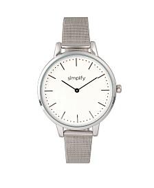 Simplify Quartz The 5800 Silver Alloy Watch 38mm