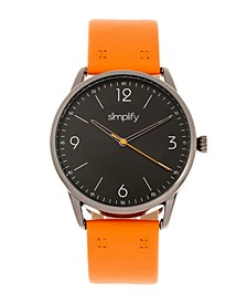 Quartz The 6300 Black Dial, Genuine Orange Leather Watch 41mm