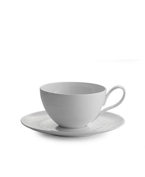 Nambe Skye Caf Au Lait and Saucer