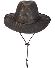Dorfman Pacific Men's Weathered Big-Brim Safari Hat