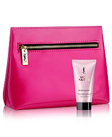 Receive a Complimentary 2-Pc. gift with any large spray purchase from the Yves Saint Laurent Mon Paris fragrance collection