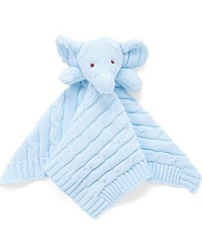Knit Elephant Security Blanket