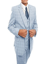 Tazio Windowpane Classic Fit 2 Button Suits for Boys