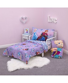 Disney Frozen Stirring Up Fun Princess Elsa and Anna 4 Piece Toddler Bed Set