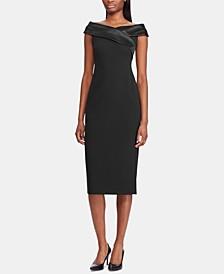 Crepe Off-The-Shoulder Dress