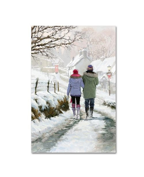 "Trademark Global The Macneil Studio 'Couple in Snow' Canvas Art - 24"" x 16"" x 2"""