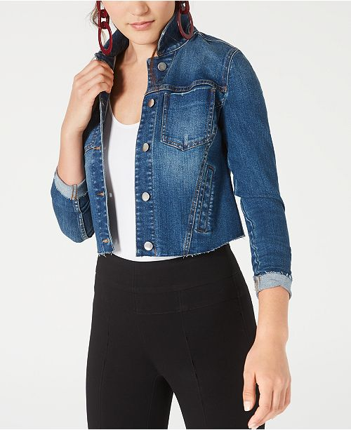 Bar III Seam-Detail Jean Jacket, Created for Macy's
