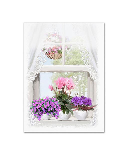 "Trademark Global The Macneil Studio 'Window Flowers' Canvas Art - 32"" x 24"" x 2"""
