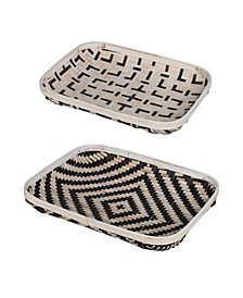 Organic Elements Geometric Wash Trays, Set of 2