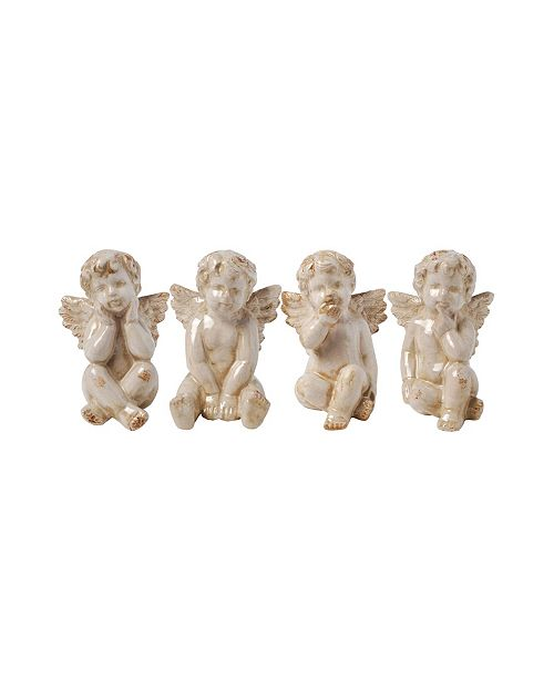 AB Home Cherub Sitting Angels, Set of 4