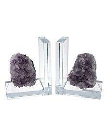 Quartz Stone Bookends, Set of 2
