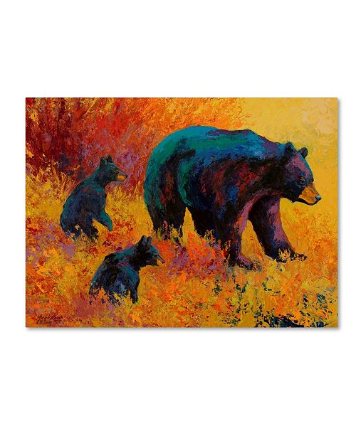 "Trademark Global Marion Rose 'Double Trouble Black Bear' Canvas Art - 19"" x 14"" x 2"""