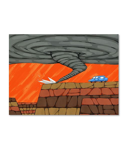 "Trademark Global Ric Stultz 'Facing His Fear' Canvas Art - 32"" x 24"" x 2"""