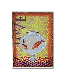 "Rachel Paxton 'Fish Bowl' Canvas Art - 32"" x 24"" x 2"""