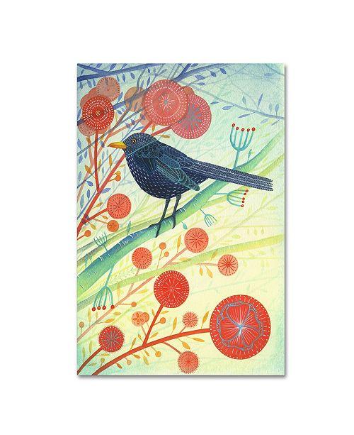 """Trademark Global Michelle Campbell 'Blackbird 1' Canvas Art - 24"""" x 16"""" x 2"""""""