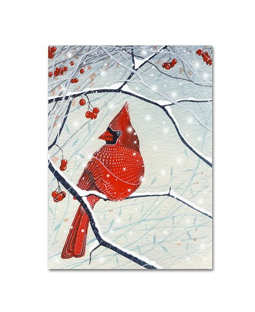 "Trademark Global Michelle Campbell 'Red Cardinal Xmas Card' Canvas Art - 19"" x 14"" x 2"""