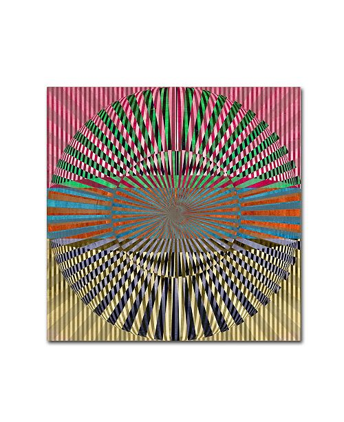 "Trademark Global Tammy Kushnir 'Abstract Circle' Canvas Art - 14"" x 14"" x 2"""