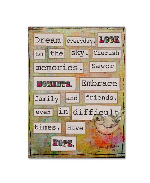 "Trademark Global Tammy Kushnir 'Dream Everyday' Canvas Art - 47"" x 35"" x 2"""