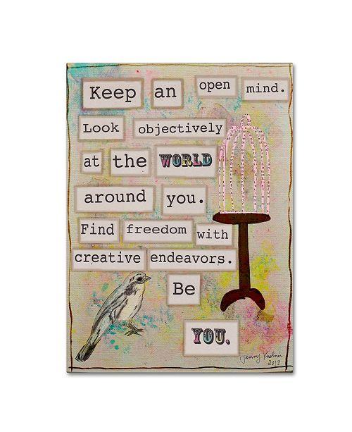 "Trademark Global Tammy Kushnir 'Keep an Open Mind' Canvas Art - 47"" x 35"" x 2"""
