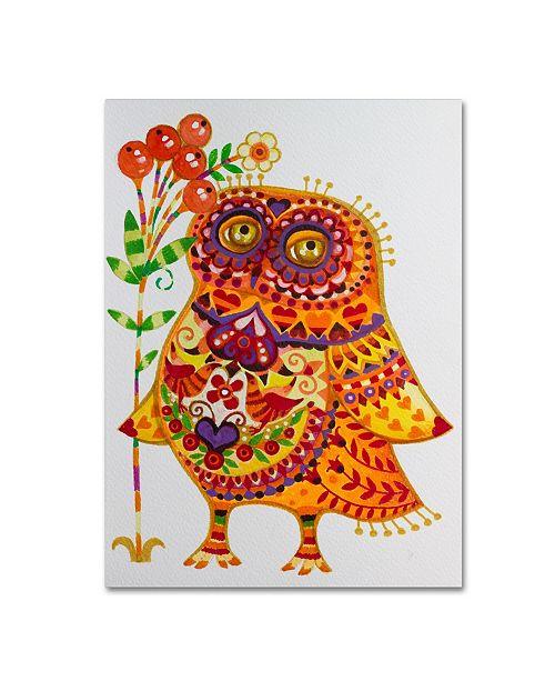 "Trademark Global Oxana Ziaka 'Decorated Owl' Canvas Art - 24"" x 18"" x 2"""